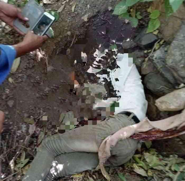 العثور على جثة شاب مقتول بطريقة بشعة في تعز.. شاهد